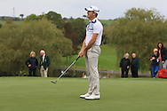 Brandon Stone (RSA) on the 18th green during Round 4 of the Volopa Irish Challenge in Tullow, Co. Carlow on Sunday 10th October 2015.<br /> Picture:  Thos Caffrey / www.golffile.ie