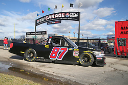 November 1, 2018 - Fort Worth, TX, U.S. - FORT WORTH, TX - NOVEMBER 01: NASCAR Camping World Truck Series driver Timmy Hill (87) drives to the garage during practice for the NASCAR Camping World Truck Series JAG Metals 350 on November 1, 2018 at Texas Motor Speedway in Fort Worth, TX. (Photo by George Walker/Icon Sportswire) (Credit Image: © George Walker/Icon SMI via ZUMA Press)
