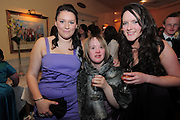 Lucy Hammond, Loughrea,  Michelle Geraghty, Craughwell, Megan O'Connor, Loughrea  at the  Ability West,  second annual Best Buddies ball, 2010 in the Galway Bay Hotel, Salthill Galway. Photo:Andrew Downes.