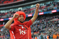 Bristol City's Derrick Williams winning the Johnstone Paint Trophy - Photo mandatory by-line: Dougie Allward/JMP - Mobile: 07966 386802 - 22/03/2015 - SPORT - Football - London - Wembley Stadium - Bristol City v Walsall - Johnstone Paint Trophy Final