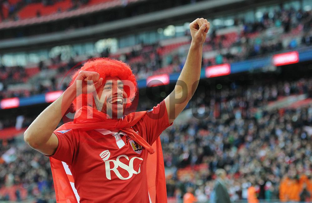 Bristol City's Derrick Williams winning the Johnstone Paint Trophy - Photo mandatory by-line: Dougie Allward/JMP - Mobile: 07966 386802 - 22/03/2015 - SPORT - Football - London - Wembley Stadium - Bristol City v Walsall - Johnstone Paint Trophy Final