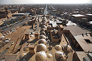 A series of domes, called gonbads, on the roof of the Amir Chakhmaq Mosque complex in the city of Yazd, Iran.