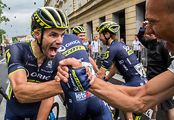 Winner Luka Mezgec (SLO) of Orica - Scott celebrates after  the Stage 2 of 24th Tour of Slovenia 2017 / Tour de Slovenie from Ljubljana to Ljubljana (169,9 km) cycling race on June 16, 2017 in Slovenia. Photo by Vid Ponikvar / Sportida