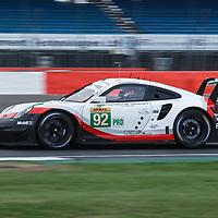 #92, Porsche Motorsport, Porsche 911 RSR, LMGTE Pro, driven by: Michael Christensen, Kevin Estre at FIA WEC Silverstone 6h, 2018 on 17.08.2018