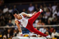 November 2, 2018 - Doha, Qatar - Chih Kai Lee of Chinese Taipei[5]   during  Pommel Horse for Men at the Aspire Dome in Doha, Qatar, Artistic FIG Gymnastics World Championships on 2 of November 2018. (Credit Image: © Ulrik Pedersen/NurPhoto via ZUMA Press)