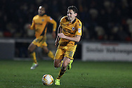 Mark Randall of Newport county in action. EFL Skybet football league two match, Newport county v Barnet at Rodney Parade in Newport, South Wales on Tuesday 25th October 2016.<br /> pic by Andrew Orchard, Andrew Orchard sports photography.