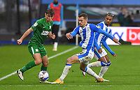 Preston North End's Ryan Ledson battles with Huddersfield Town's Harry Toffolo<br /> <br /> Photographer Dave Howarth/CameraSport<br /> <br /> The EFL Sky Bet Championship - Huddersfield Town v Preston North End - Saturday 24 October 2020 - The John Smith's Stadium - Huddersfield<br /> <br /> World Copyright © 2020 CameraSport. All rights reserved. 43 Linden Ave. Countesthorpe. Leicester. England. LE8 5PG - Tel: +44 (0) 116 277 4147 - admin@camerasport.com - www.camerasport.com