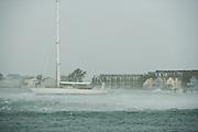 Newport, RI - Goat Island during super storm Sandy.