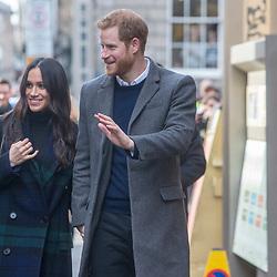 Prince Harry and Meghan Markle visit Social Bite in Edinburgh.