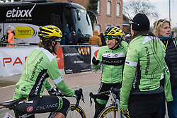 Cylance talk through how the race played out. Shelley Olds finished just off the podium in fourth place - 2016 Omloop van het Hageland - Tielt-Winge, a 129km road race starting and finishing in Tielt-Winge, on February 28, 2016 in Vlaams-Brabant, Belgium.