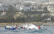 San Remo, ITALY,  Qualification Races, men's quadruple sculls M4X+, San Malo, rowing on the open sea.  2008 FISA Coastal World Championships. Friday 17/10/2008. [Photo, Peter Spurrier/Intersport-images] Coastal Rowing Course: San Remo Beach, San Remo, ITALY