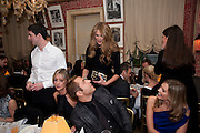 ELLE MACPHERSON; DAVID WALLIAMS, Graydon Carter hosts a diner for Tom Ford to celebrate the London premiere of ' A Single Man' Harry's Bar. South Audley St. London. 1 February 2010