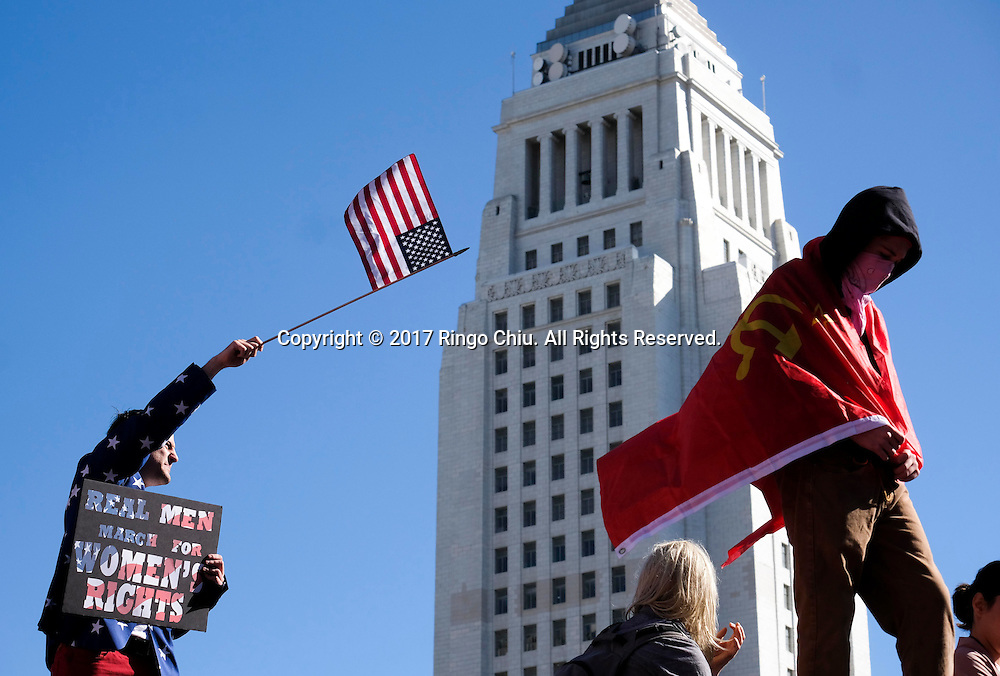 Protesters fill the streets of downtown Los Angeles during the Women's March against President Donald Trump Saturday, Jan. 21, 2017. The march was held in in conjunction with similar events taking place in Washington and around the nation following the inauguration of President Donald Trump.  (Photo by Ringo Chiu/PHOTOFORMULA.com)<br /> <br /> Usage Notes: This content is intended for editorial use only. For other uses, additional clearances may be required.