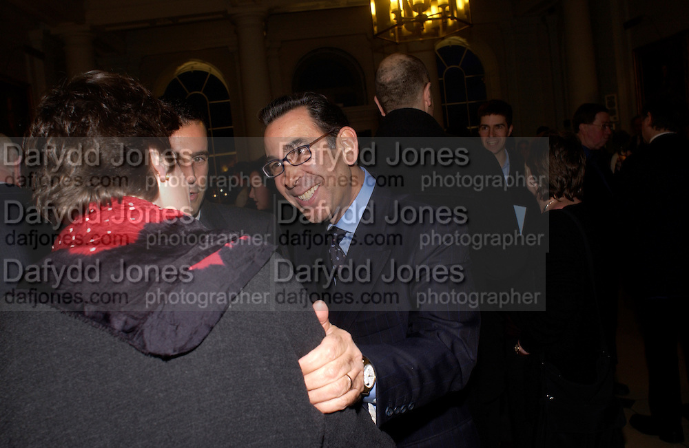 Prof David KHALILI, Private view of 'Heaven on Earth' exhibition. Hermitage. Somerset House. 24 March 2004. ONE TIME USE ONLY - DO NOT ARCHIVE  © Copyright Photograph by Dafydd Jones 66 Stockwell Park Rd. London SW9 0DA Tel 020 7733 0108 www.dafjones.com