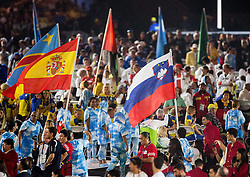 Flag of Slovenia at Closing Ceremony during Day 11 of the Rio 2016 Summer Paralympics Games on September 18, 2016 in Maracanã Stadium, Rio de Janeiro, Brazil. Photo by Vid Ponikvar / Sportida
