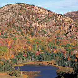 Acadia N.P., ME. New England Fall. The Beehive from Great Head Trail.