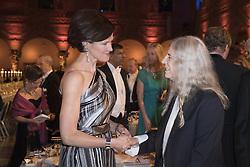 Anna Kinberg Batra, Patti Smith <br /> <br />  <br /> <br />  beim Nobelbankett 2016 im Rathaus in Stockholm / 101216 <br /> <br /> <br /> <br /> ***The Nobel banquet, Stockholm City Hall, December 10th, 2016***