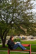 Edgewood College graduate student. (Photo © Andy Manis)