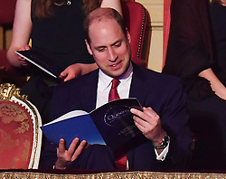 Members of The Royal Family attend The Queen's Birthday Party at the Royal Albert Hall, London, UK, on the 21st April 2018. Picture by John Stillwell/WPA-Pool. 21 Apr 2018 Pictured: Prince William, Duke of Cambridge. Photo credit: MEGA TheMegaAgency.com +1 888 505 6342