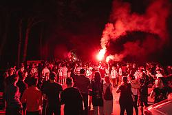 Reception of NS Mura players after winning Slovenian cup, on June 25, 2020 in Fazanerija, Murska Sobota, Slovenia. Photo by Blaž Weindorfer / Sportida