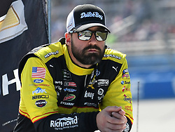 October 14, 2018 - Talladega, AL, U.S. - TALLADEGA, AL - OCTOBER 14: Paul Menard, Wood Brothers Racing, Ford Fusion Menards/Dutch Boy (21) before the 1000Bulbs.com 500 on October 14, 2018, at Talladega Superspeedway in Tallageda, AL.(Photo by Jeffrey Vest/Icon Sportswire) (Credit Image: © Jeffrey Vest/Icon SMI via ZUMA Press)