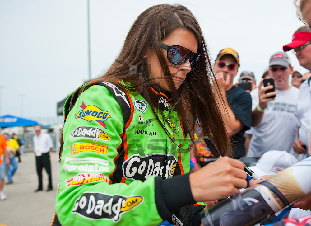 NEWTON, IA - July 04, 2012: Danica Patrick (7) during qualifying for the U.S. Cellular 250 race at Iowa Speedway in Newton, IA.