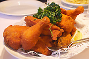 Easter in Southern Styria, Austria. Traditional Styrian Backhendl (deep fried chicken) at Kirchenwirt, Kitzeck.