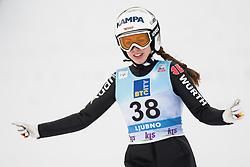 February 8, 2019 - Juliane Seyfarth of Germany on first competition day of the FIS Ski Jumping World Cup Ladies Ljubno on February 8, 2019 in Ljubno, Slovenia. (Credit Image: © Rok Rakun/Pacific Press via ZUMA Wire)