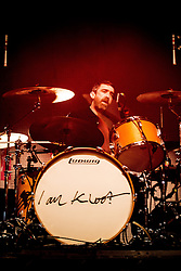 © Licensed to London News Pictures . 14/02/2013 . Manchester , UK . Andy Hargreaves on drums . I Am Kloot perform at the Ritz in Manchester . Photo credit : Joel Goodman/LNP