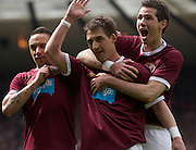 The William Hill Scottish FA Cup Final 2012 Hibernian Football Club v Heart Of Midlothian Football Club..19-05-12...Rudi Skacel celebrates scoring during the William Hill Scottish FA Cup Final 2012 between (SPL) Scottish Premier League clubs Hibernian FC and Heart Of Midlothian FC. It's the first all Edinburgh Final since 1986 which Hearts won 3-1. Hearts bid to win the trophy since their last victory in 2006, and Hibs aim to win the Scottish Cup for the first time since 1902....At The Scottish National Stadium, Hampden Park, Glasgow...Picture Mark Davison/ ProLens PhotoAgency/ PLPA.Saturday 19th May 2012.