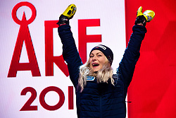 February 8, 2019 - Re, SWEDEN - 190208 Ragnhild Mowinckel of Norway celebrates at the medal ceremony for the women's combination during the FIS Alpine World Ski Championships on February 8, 2019 in re  (Credit Image: © Daniel Stiller/Bildbyran via ZUMA Press)