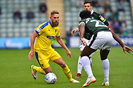 Scott Wagstaff (7) of AFC Wimbledon on the attack during the EFL Sky Bet League 1 match between Plymouth Argyle and AFC Wimbledon at Home Park, Plymouth, England on 6 October 2018.