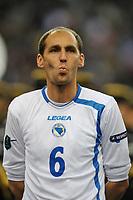 FOOTBALL - UEFA EURO 2012 - QUALIFYING - GROUP D - FRANCE v BOSNIA - 11/10/2011 - PHOTO GUY JEFFROY / DPPI - ELVIR RAHIMIC (BOS)