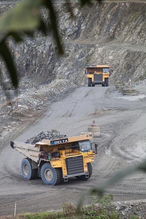 Oceana Gold mining operations in Didipio, Nueva Vizcaya, Philippines.