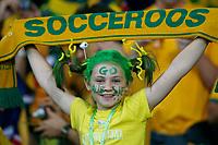 Photo: Glyn Thomas.<br />Croatia v Australia. Group F, FIFA World Cup 2006. 22/06/2006.<br /> A young Australian fan cheers on her team.