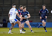 Sale Sharks centre Sam Hill during a Gallagher Premiership Round 9 Rugby Union match, Friday, Feb 12, 2021, in Leicester, United Kingdom. (Steve Flynn/Image of Sport)