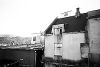 Et hus i forfall i Ålesund.<br /> Foto: Svein Ove Ekornesvåg