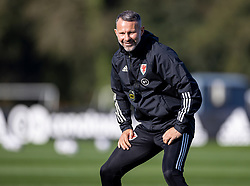 CARDIFF, WALES - Wednesday, October 7, 2020: Wales' manager Ryan Giggs during a training session at the Vale Resort ahead of the International Friendly match against England. (Pic by David Rawcliffe/Propaganda)