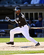 CHICAGO - APRIL 09:  Jimmy Rollins #7 of the Chicago White Sox bats against the Cleveland Indians on April 9, 2016 at U.S. Cellular Field in Chicago, Illinois.  The White Sox defeated the Indians 7-3.  (Photo by Ron Vesely)  Subject: Jimmy Rollins