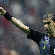 Referee's Paolo Tagliavento during their UEFA Champions League Group H matchday 3 soccer match Galatasaray between CFR Cluj at the TT Arena Ali Sami Yen Spor Kompleksi in Istanbul, Turkey on Tuesday 23 October 2012. Photo by Aykut AKICI/TURKPIX