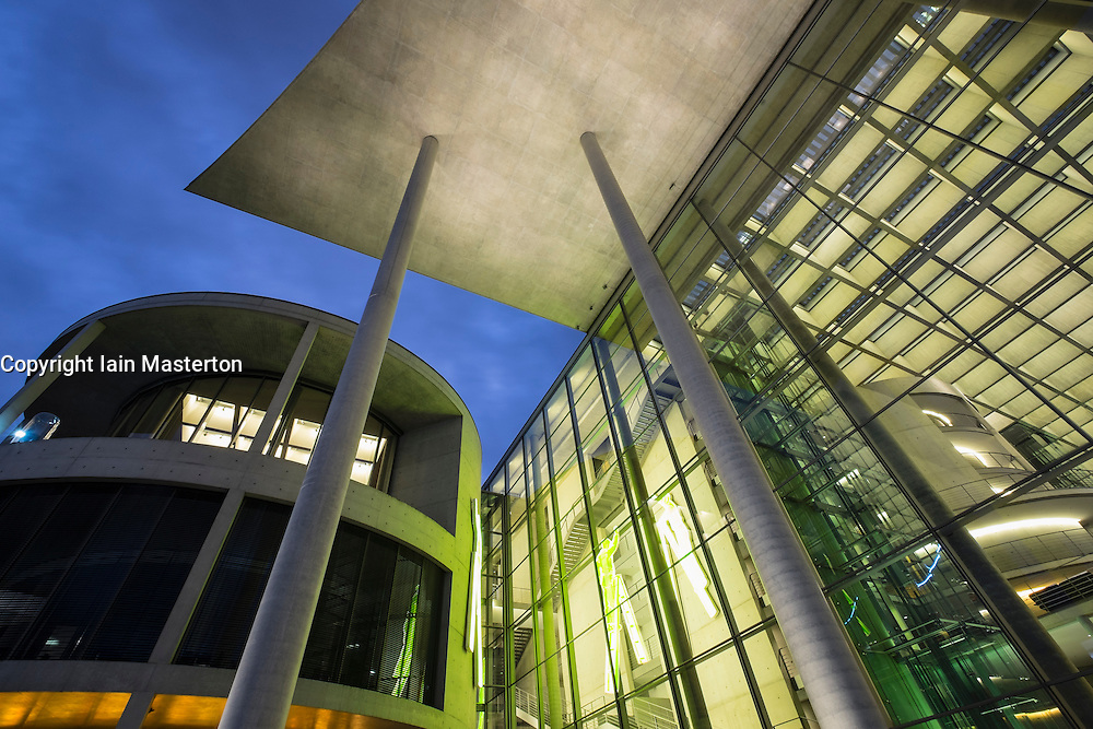 Paul Lobe Haus government office building part of Bundestag at night in Berlin Germany