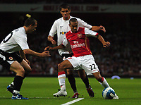 Photo: Tony Oudot.<br /> Arsenal v Sparta Prague. UEFA Champions League Qualifying. 29/08/2007.<br /> Gael Clichy of Arsenal takes on the Sparta defence