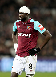 West Ham United's Cheikhou Kouyate during the Premier League match at the London Stadium, London.