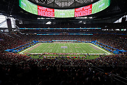 The LSU Tigers kicks off against the Oklahoma Sooners in the 2019 College Football Playoff Semifinal at the Chick-fil-A Peach Bowl on Saturday, Dec. 28, in Atlanta. (Daniel Shirey via Abell Images for the Chick-fil-A Peach Bowl)