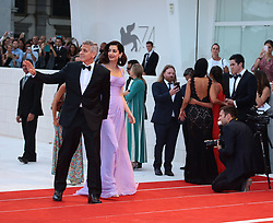 September 2, 2017 - Venice, Italy - George Clooney and Amal Clooney  walks the red carpet ahead of the 'Suburbicon' screening during the 74th Venice Film Festival  in Venice, Italy, on September 2, 2017. (Credit Image: © Matteo Chinellato/NurPhoto via ZUMA Press)