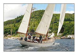 Day three of the Fife Regatta, Cruise up the Kyles of Bute to Tighnabruaich<br /> Latifa, 8, Mario Pirri, ITA, Bermudan Yawl, Wm Fife 3rd, 1936<br /> <br /> * The William Fife designed Yachts return to the birthplace of these historic yachts, the Scotland's pre-eminent yacht designer and builder for the 4th Fife Regatta on the Clyde 28th June–5th July 2013<br /> <br /> More information is available on the website: www.fiferegatta.com