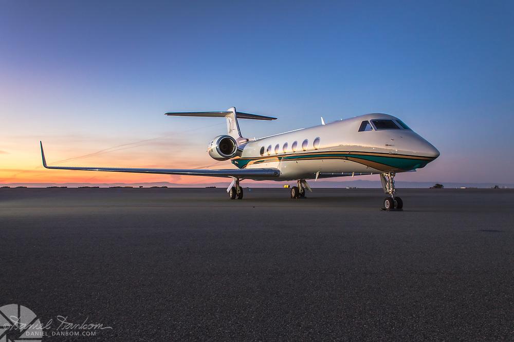 Gulfstream G550 on the ramp, at MRY, California