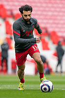 Football - 2020 / 2021 Premier League - Liverpool vs Fulham - Anfield<br /> <br /> Liverpool FC's Mohamed Salah during the pre-match warm-up <br /> <br /> CreditCOLORSPORT/TERRY DONNELLY