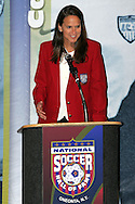 28 August 2006: Inductee Carla Overbeck. The National Soccer Hall of Fame Induction Ceremony was held at the National Soccer Hall of Fame in Oneonta, New York.