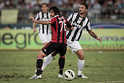 Bari (BA) 21.07.2012 - Trofeo Tim 2012. Juventus - Milan. Nella Foto: Yepes (M) Vucinic (J)